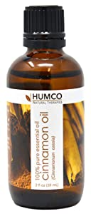 Humco Natural Therapies CINNAMON Oil with Dropper, 2 Oz,-100% Pure Essential Oil - Improve Appearance of Skin, Use as Natural Insect Repellent, Create a Natural Room Spray