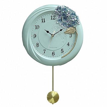 zxc Wall clock Un Reloj en la Pared Tranquila de 12 Pulgadas hogar decoración de Pared