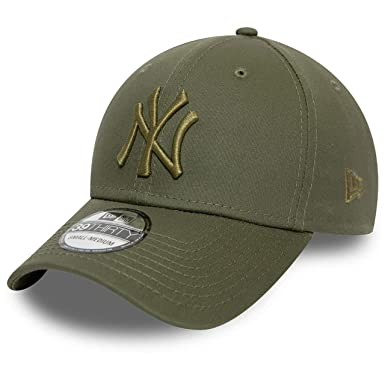 New Era York Yankees League Essential Olive Cap 39thirty Curved ...