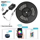 Amazon Price History for:Nexlux Led light strip,Wifi Wireless Smart Phone Controlled Strip Light Kit 32.8ft 300leds 5050 Waterproof IP65 LED Lights ,Working with Android and IOS System,Alexa