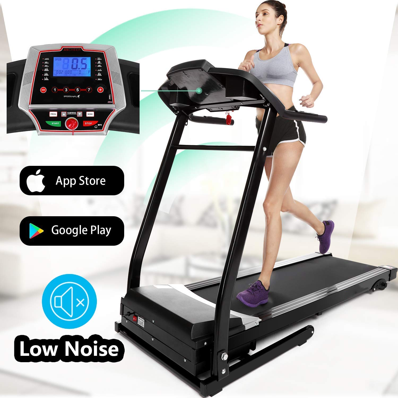 Aceshin Folding Portable Electric Treadmill Low Noise Running ...