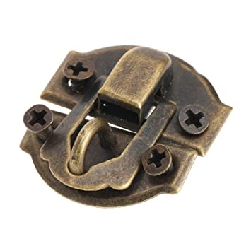 Retro Chic Butterfly Latch Catch Jewelry Wooden Box Lock Hasp Pad Chest Lock ES