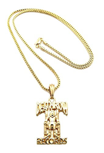 Hip hop death row records pendant 61cm box chain necklace gold hip hop death row records pendant 61cm box chain necklace gold tone xsp354gbx aloadofball Choice Image