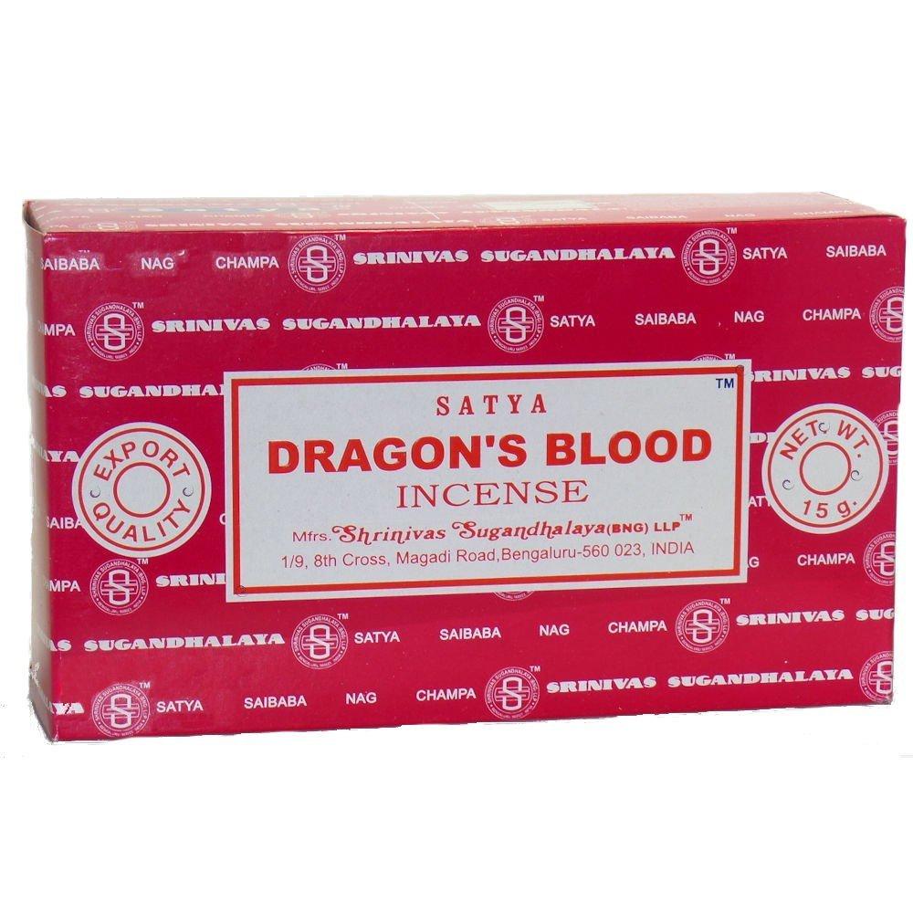 Satya Nag Champa Dragon's Blood Incense Sticks (3-PACKS)