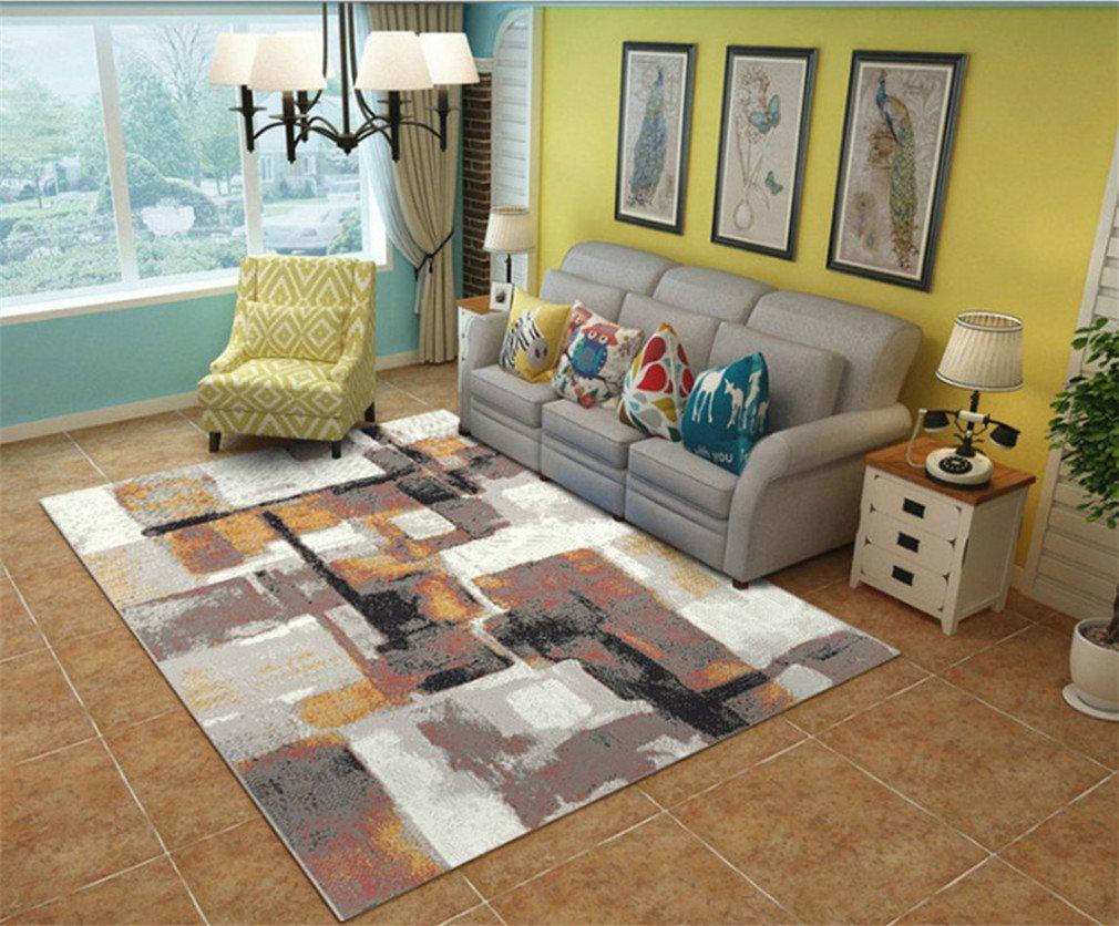 MIRUIKE Teppiche Modern Abstrakt Rutschfester, für Wohnzimmer Schlafzimmer, Teppich, waschbar, weich, Flanell, a, 5.9'x9.2'(180x280cm)