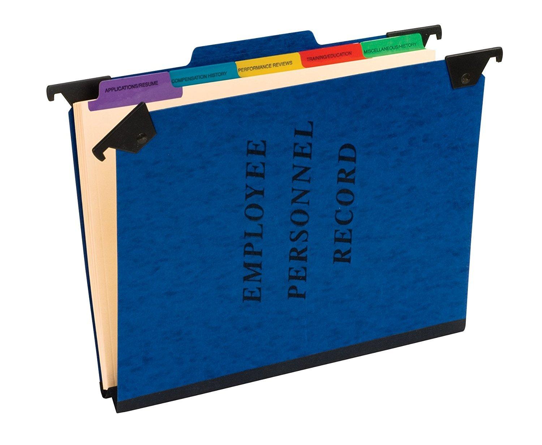 Pendaflex Hanging Employee/Personnel Folders, Letter Size, Blue, 10 per box (SER-2-BL)