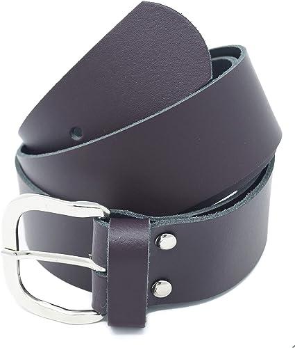 Nero//Marrone//Rosso//Bianco//Grigio//Bordeaux Xeira Cintura in vera pelle per donna e uomo Larghezza 4 cm Fatto in Germania