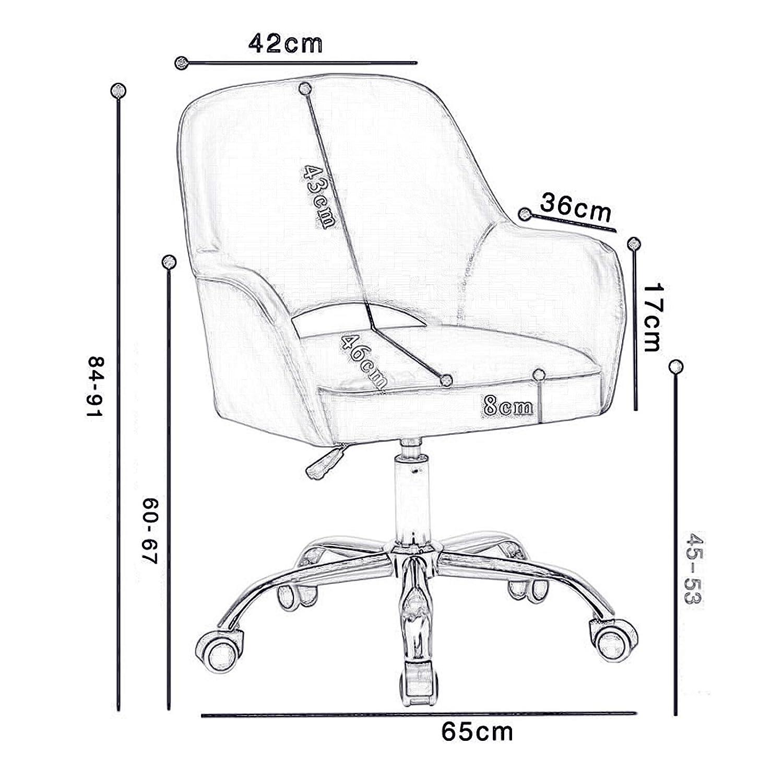 LIYANJJ PU-läder kontorsstol med massage urholkad ergonomisk stoppning lyx ryggstöd stil säte och hjul justerbar höjd för barberare hem dator #3