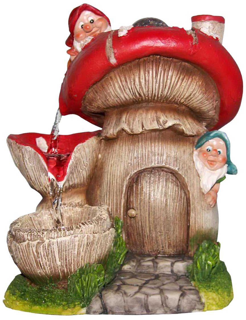 SINTECHNO SNF91157-2 Cute Gnomes with Water Fountain