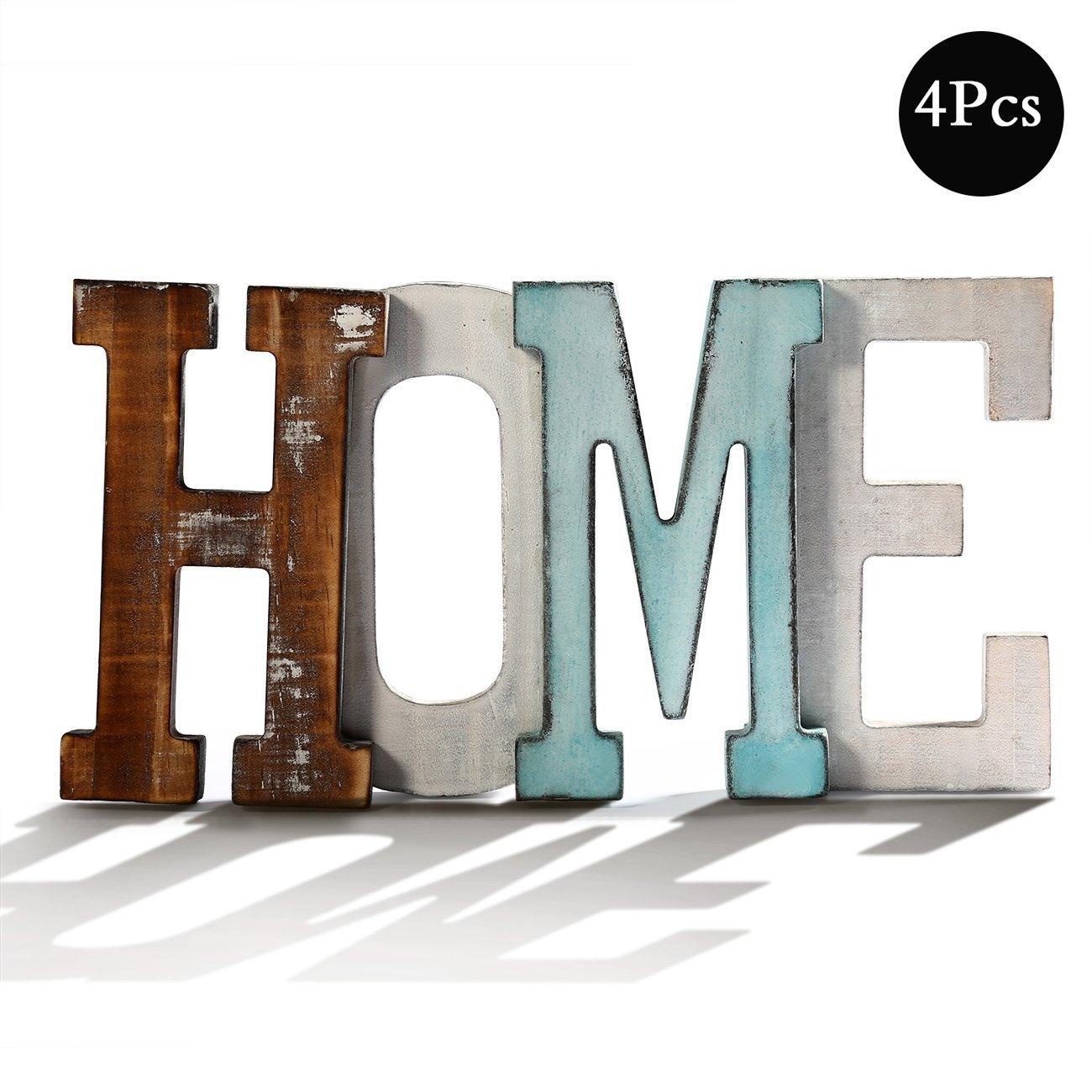 BESTOOL Rustikale Wohnkultur Holz Mini Home Dekorative Zeichen ...