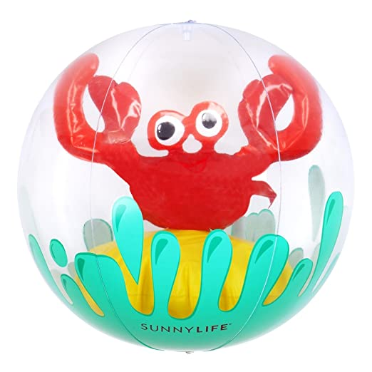 SunnyLIFE Pelota Hinchable Playa Cangrejo Rojo: Amazon.es ...