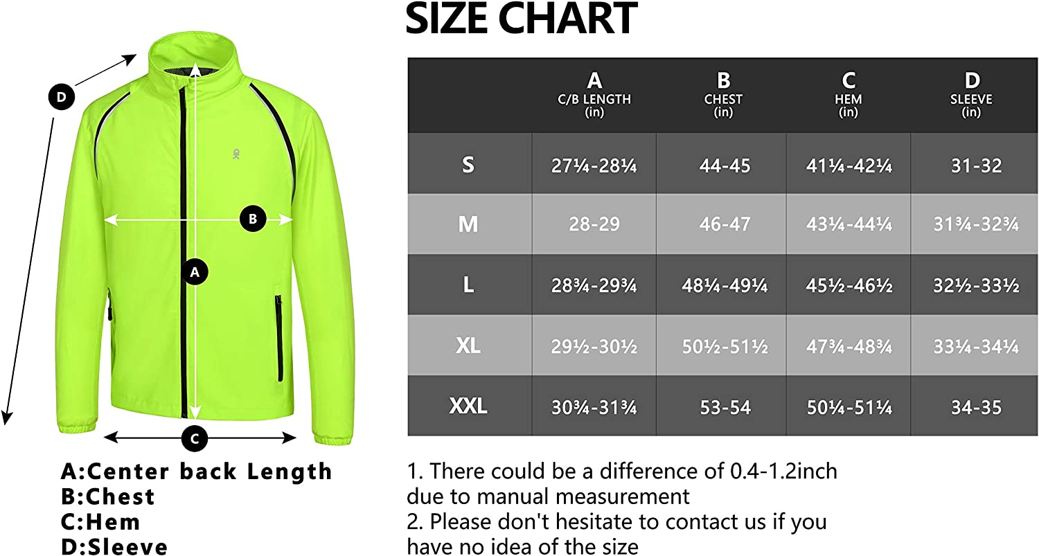 Little Donkey Andy Mens Cycling Jacket with Removable Sleeves Lightweight Running Jacket