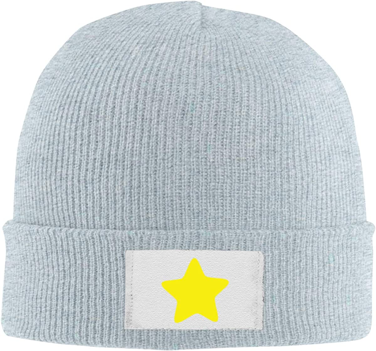 Stretchy Cuff Beanie Hat Black Dunpaiaa Skull Caps Yellow Star Logo Winter Warm Knit Hats