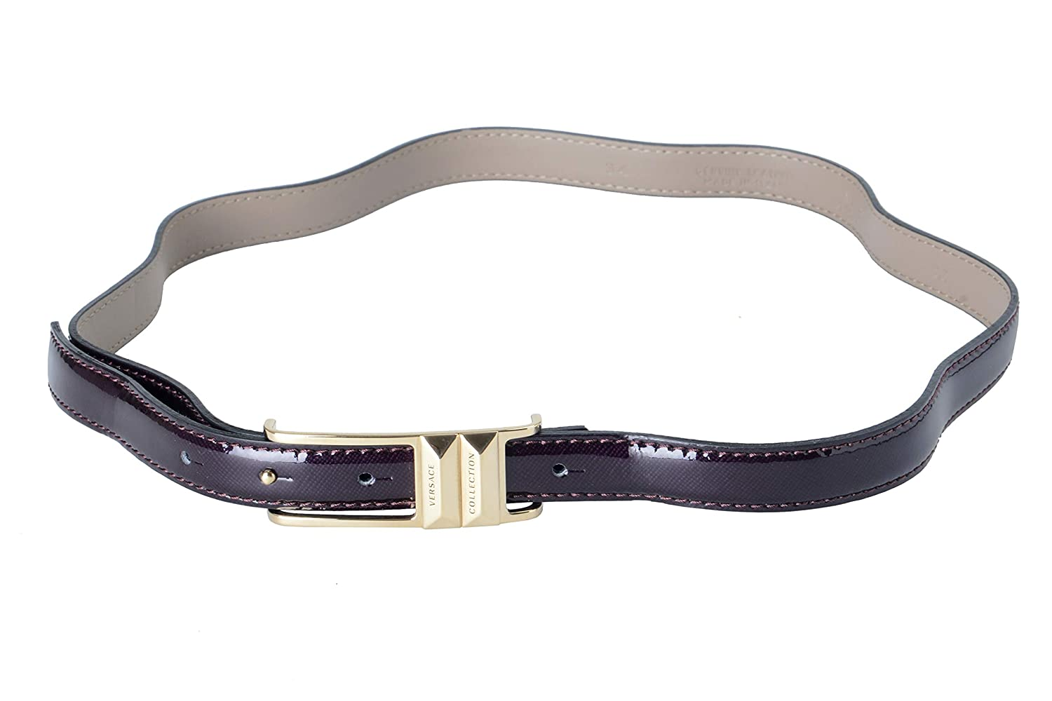 Versace Collection 100% Leather Purple Women's Belt US 85 IT 100