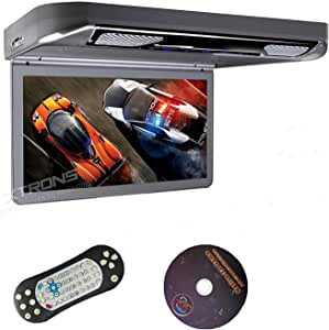 """XTRONS Grey 13.3"""" HD 1080P Video Car MPV Roof Flip Down Slim Overhead DVD Player Wide Screen Ultra-Thin with HDMI Input"""