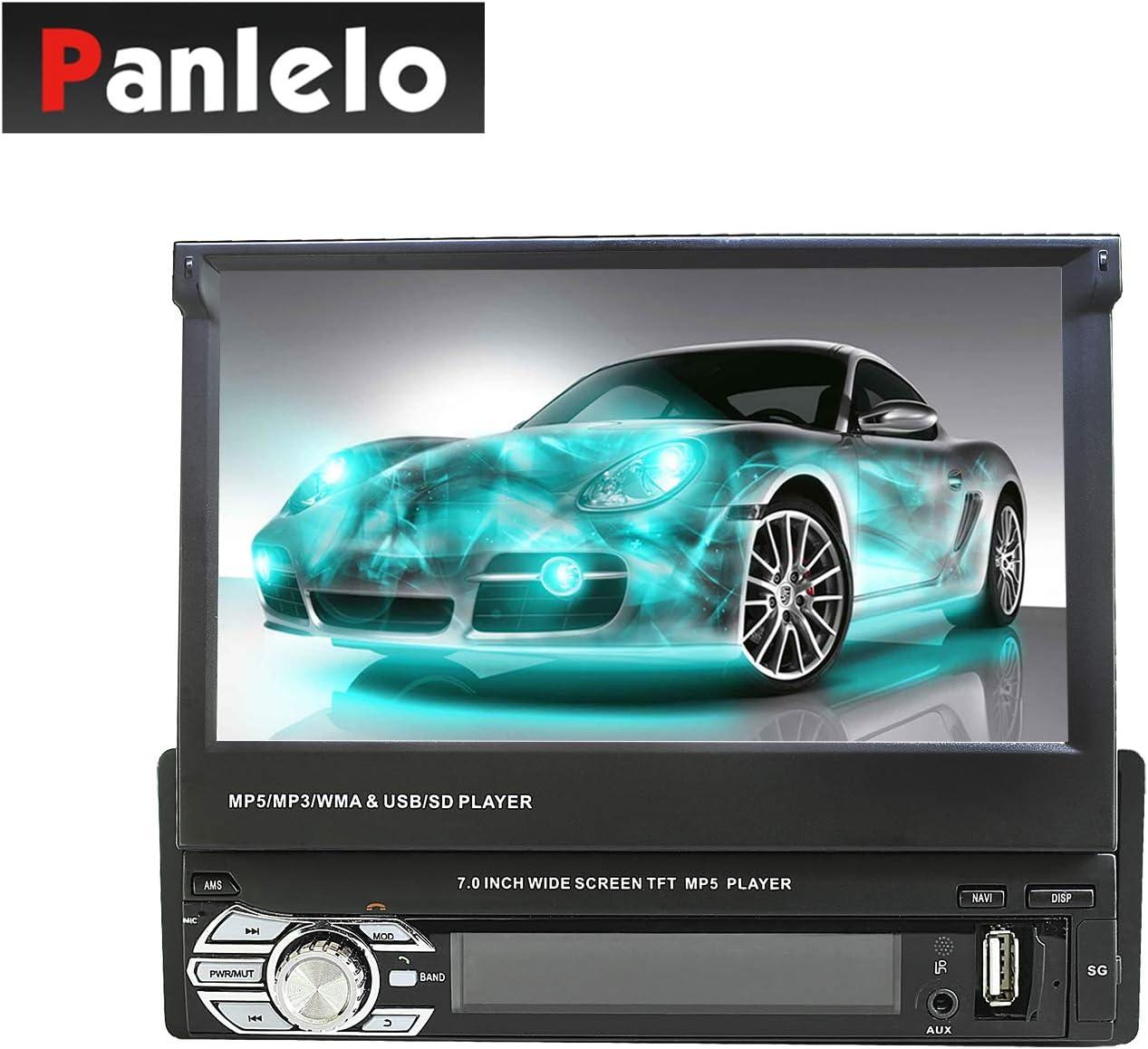Panlelo 7 Pulgadas 1 DIN Autoradio Android Navegación GPS BT Pantalla Táctil Deslizable Pantalla de visualización Wi-Fi Radio Automática Espejo Enlace App Store (T2)