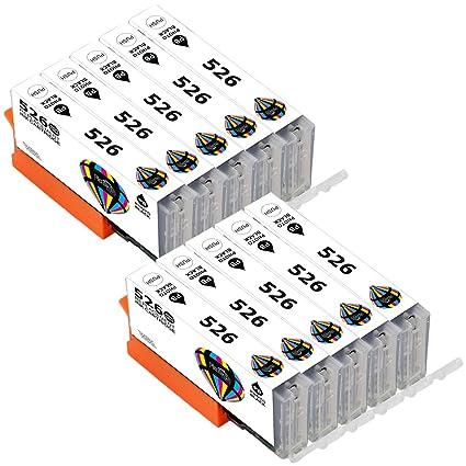 10 x Canon CLI-526 (negro) cartuchos de tinta para impresora Canon ...
