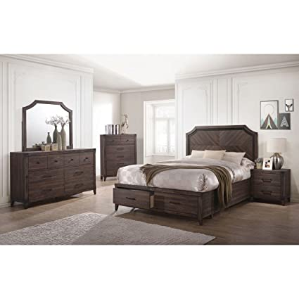 Amazon.com: Dark Grey Oak Richmond Collection Bedroom ...