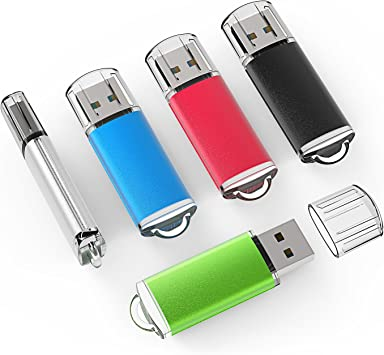 3 Pack 4GB Anti-skid USB Flash Drives Pen Drive Memory Sticks Storage USB 2.0