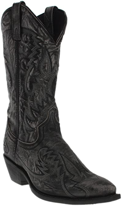 58f9a142673 Laredo Men's Garrett Distressed Western Boot Snip Toe