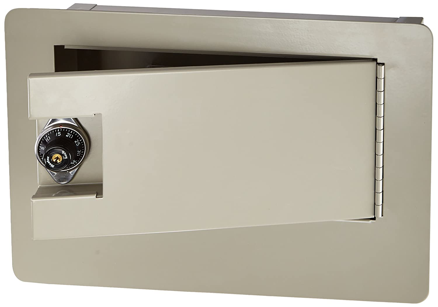 Buddy Products Wall Safe with Double Reinforced Heavy Gauge Steel Door, 3.75 x 9 x 9.375-Inch, Putty (3100-6)