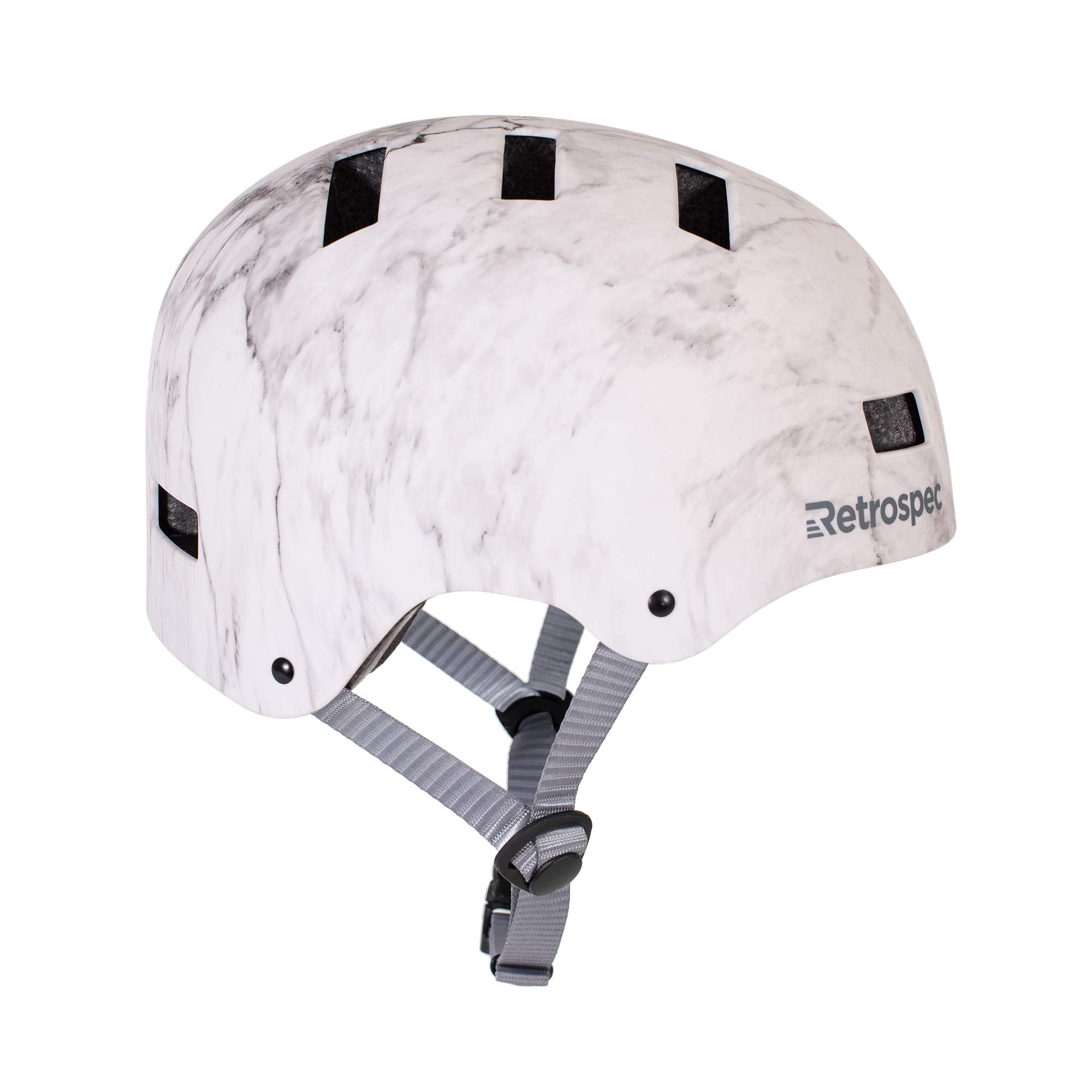 Retrospec CM-1 Bicycle / Skateboard Helmet for Adult CPSC Certified Commuter, Bike, Skate, Matte Marble, Small: 51-55 cm / 20''-21.75''