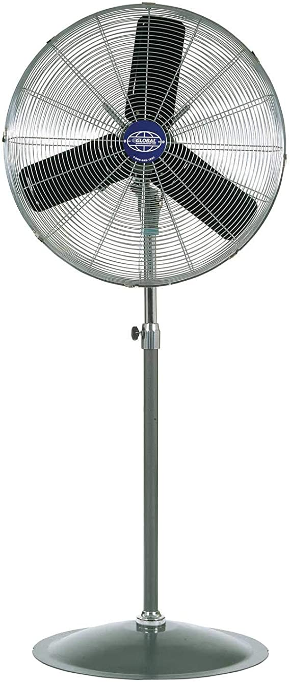 22 Oscillating, 4100 CFM Shop Made in America Home Industrial Pedestal Fan Heavy Duty for Warehouse Commercial Garage