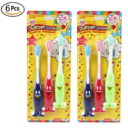 6 cepillos de dientes para niños de 1 a 3 años de duración, para entrenar