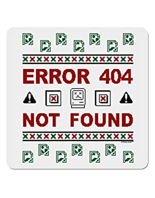 Image: TooLoud Ugly Christmas Error 404 Not Found | Square Sticker