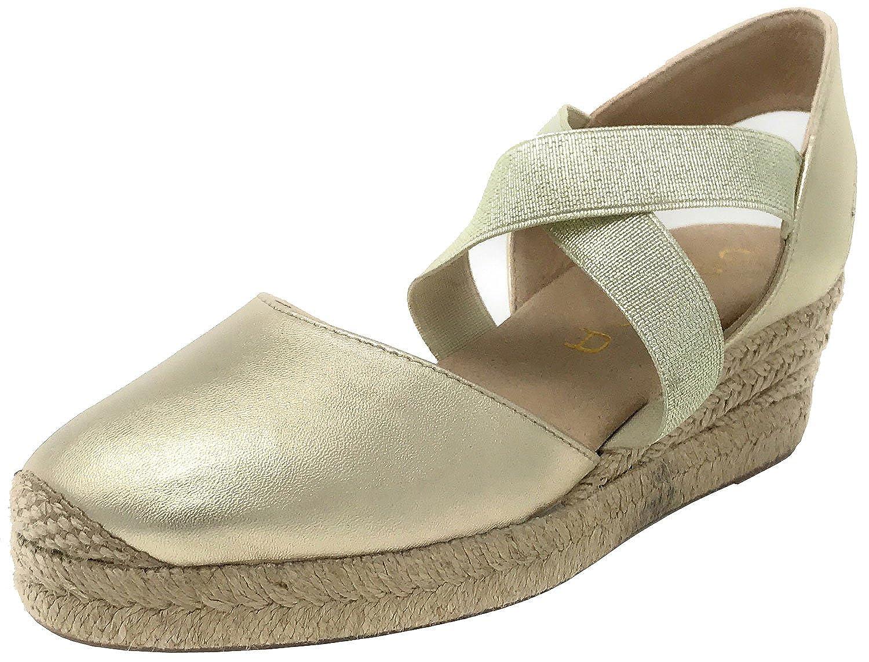 Unisa Cele_18_LMT Platino, Alpargata Mujer Metal Platino: Amazon.es: Zapatos y complementos