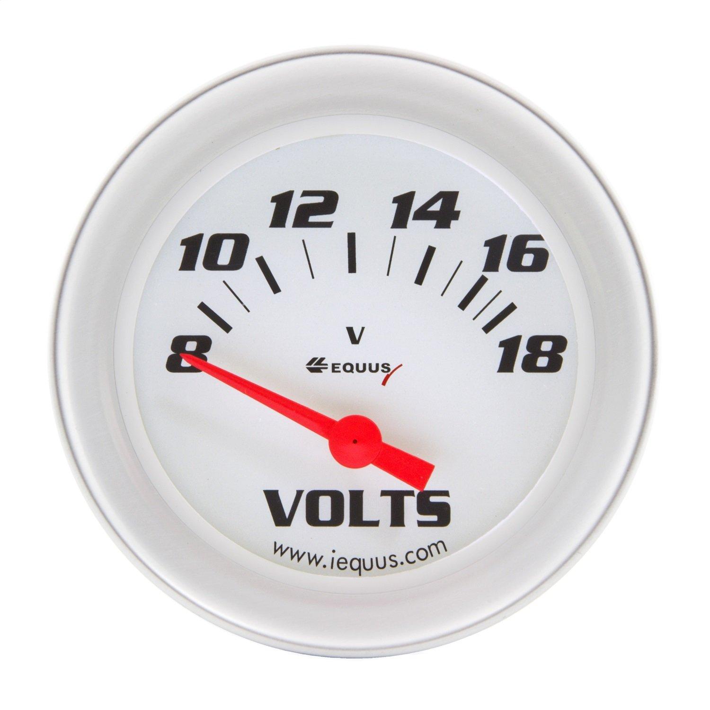 White with Aluminum Bezel INNOVA Equus 8268 2 Voltmeter