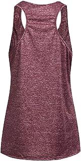 FANOUD Women Sleeveless Yoga Tops Activewear Running Workout Shirt Tunic Vest Tank Running Workout Tank Tops for Women