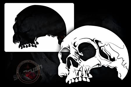 Skull Stencil Professional Airbrush Template
