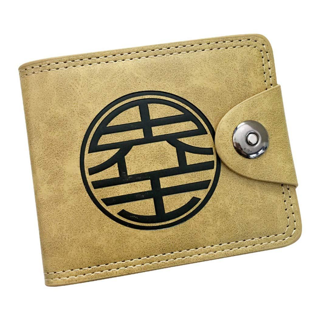 Cosstars Dragon Ball Anime Cartera de Cuero Artificial Monedero Tríptico Billetera Clásico Portatarjetas para Hombre /1