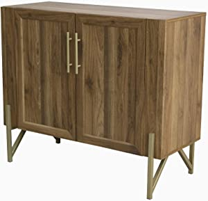Tilly Lin Walnut Mid Century Side Board, Dining Room Server, Credenza, Buffet Table with Storage, Artisan Molding Design