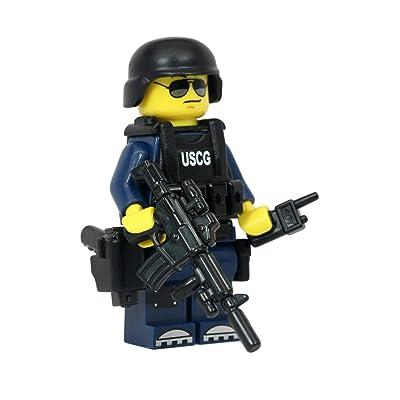Modern Brick Warfare US Coast Guard Maritime Safety and Security Team (MSST) Officer Custom Minifigure: Toys & Games