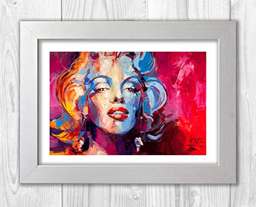 Amazon.com: Engravia Digital Marilyn Monroe Abstract Painted By