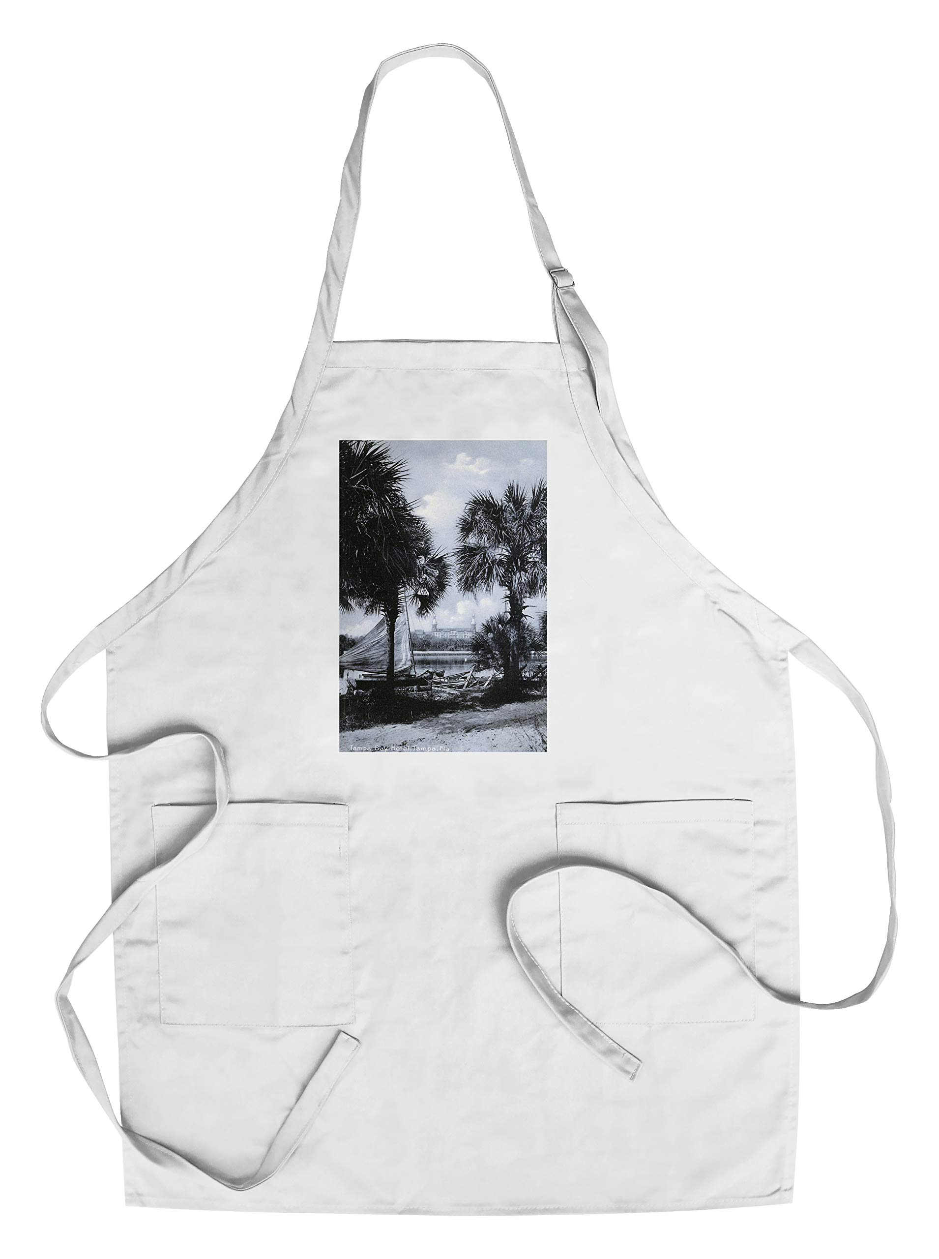 Tampa, Florida - Tampa Bay Hotel in Distance Photo (Cotton/Polyester Chef's Apron)