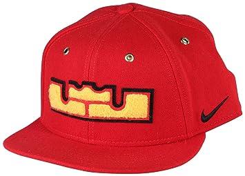 Nike Unisex Pro Lebron Wool Basketball Hat Cap-RedYellow-Adjustable