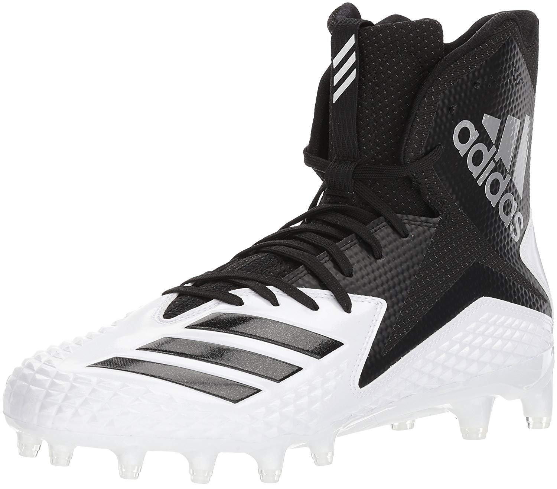 adidas Men's Freak X Carbon Mid Football Shoe, White/Core Black/Core Black, 10 M US