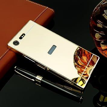 0157c9da8b MQman 9H強化ガラスフィルム付き SONY Xperia XZ Premium ケース メッキ加工 鏡面仕上げ SO