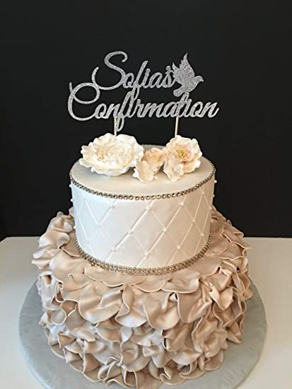 Personalized Confirmation Confirmation Wedding Cake Toppers Letters