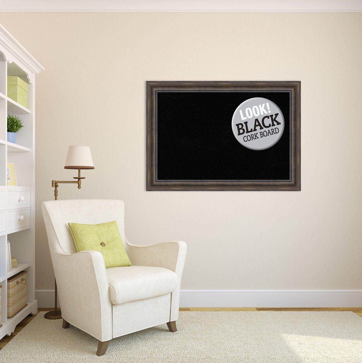 Amanti Art enmarcado tablero de corcho negro extra grande: Amazon.es ...