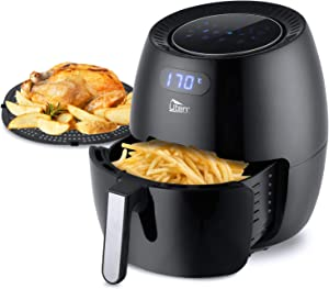 Air Fryer 6.9QT, Electric Non-Stick Air Fryers Oven Oilless Cooker, 8 Cooking Preset, Instant Temp/Time Control, LED Digital Touchscreen - Black