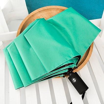 SSBY Paraguas Hembra Coreano Pequeño Fresco Clima Automatico Plegable Paraguas Paraguas De Sol Estudiante Sen Diosa