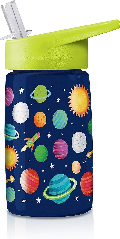 Crocodile Creek- Solar System Drinking Bottle Botella para Beber, Color Azul/Verde/Rojo/Naranja/Amarillo, 1 EA (1042-6)