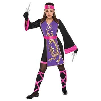 Generique - Disfraz Ninja Rosa y Violeta niña 12-14 años ...