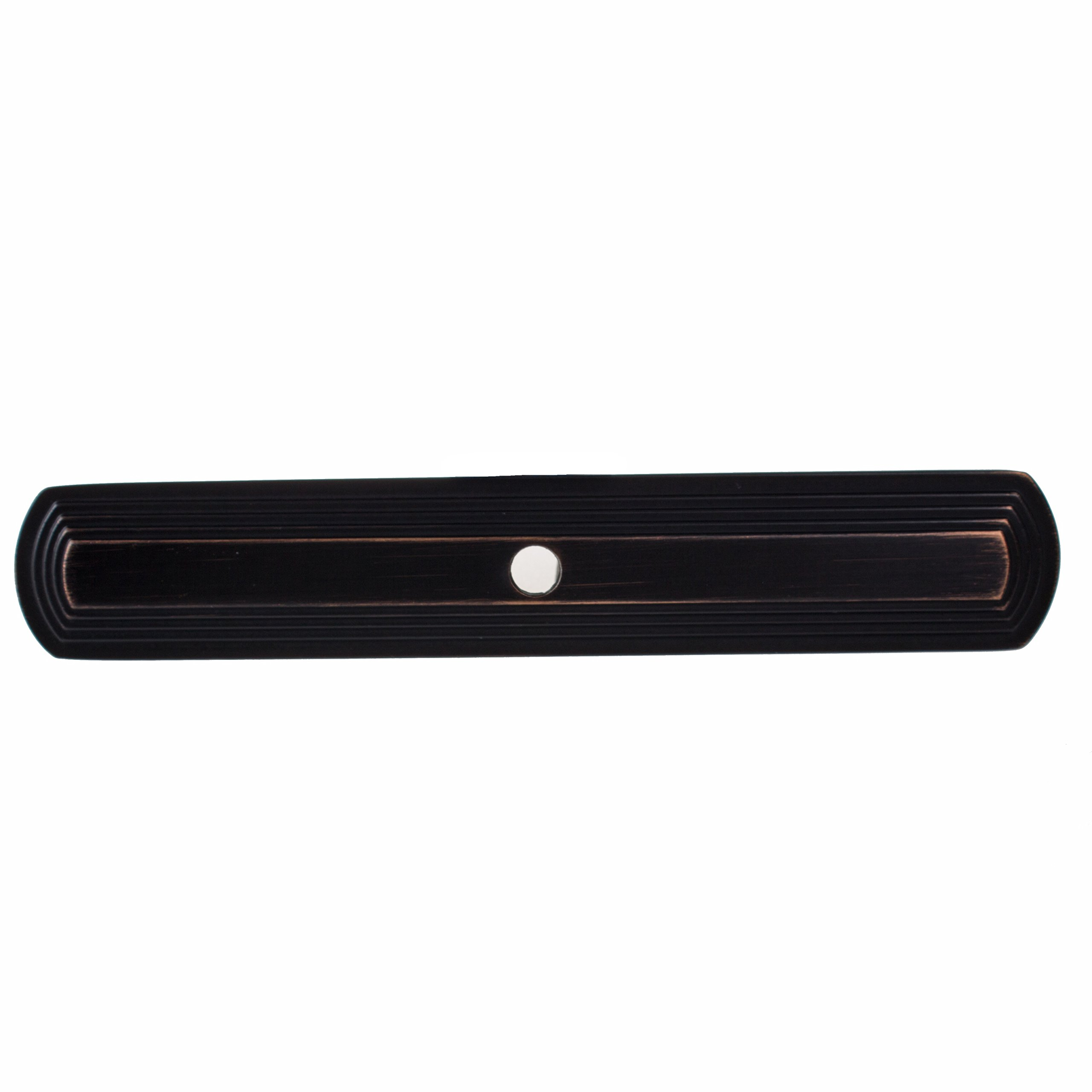 GlideRite Hardware 1079-ORB-10 6 inch Long Narrow Rounded Rectangle Oil Rubbed Bronze Cabinet Back Plate 10 Pack