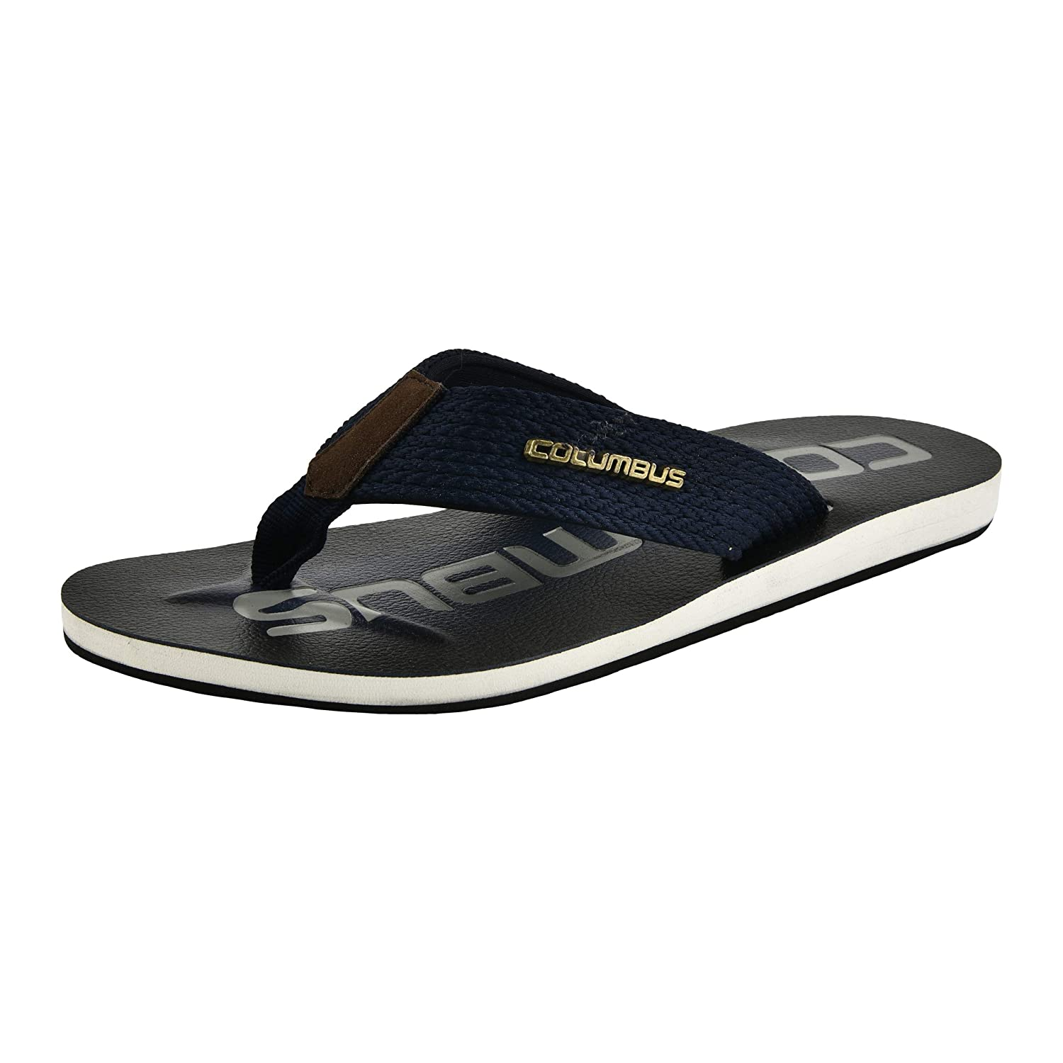 6a66fe14e Columbus Norbi Navy Blue-White Flip-Flops for Men  Buy Online at Low Prices  in India - Amazon.in