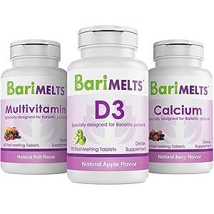 BariMelts Immunity Bundle - Contains Multivitamin, D3, and Calcium Vitamins